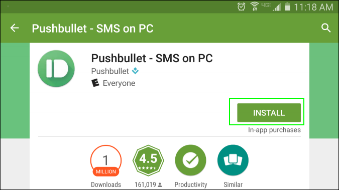 Pushbullet for PC/Chrome/Windows 7,8,10